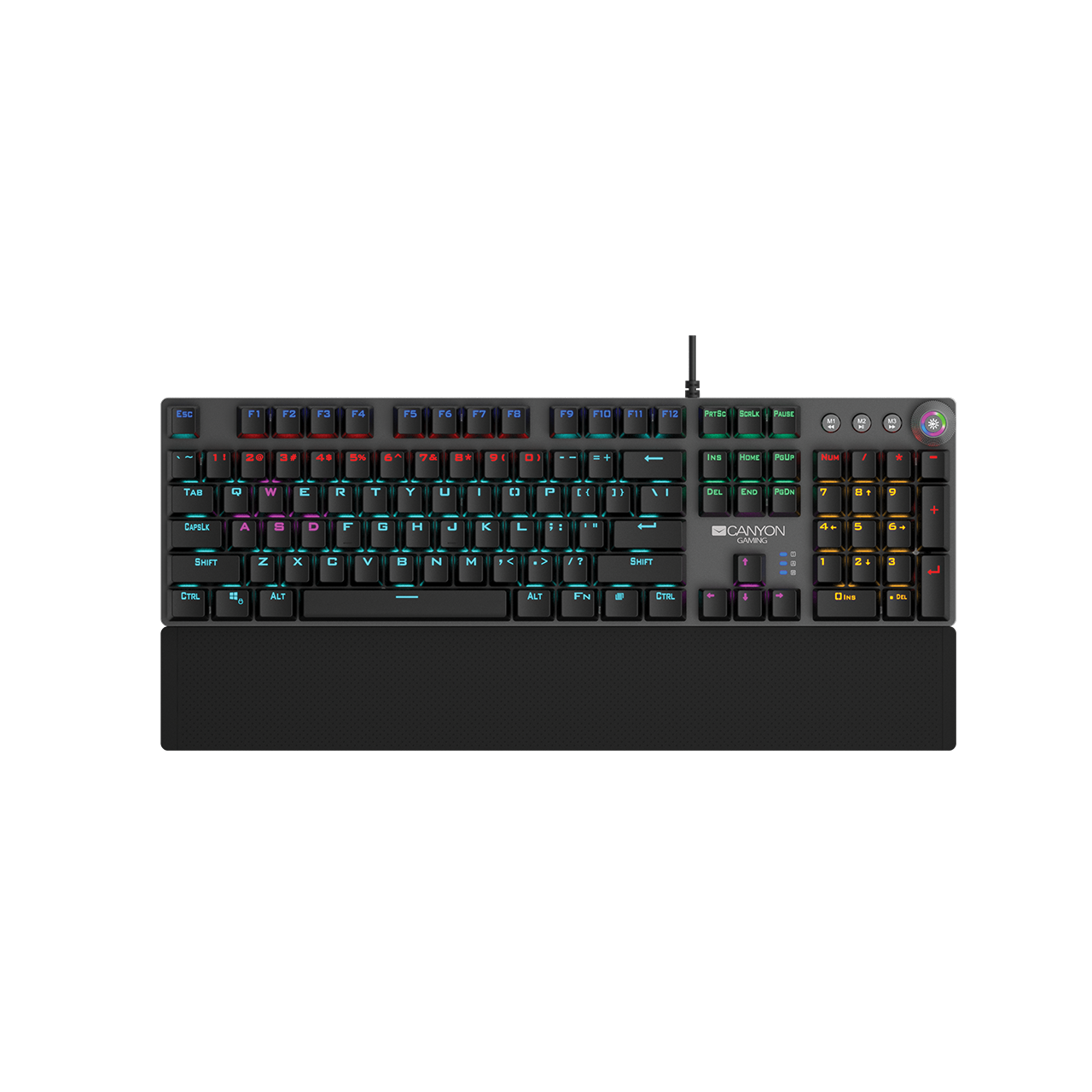 Canyon Gaming Keyboard with Black Mechanical Switches