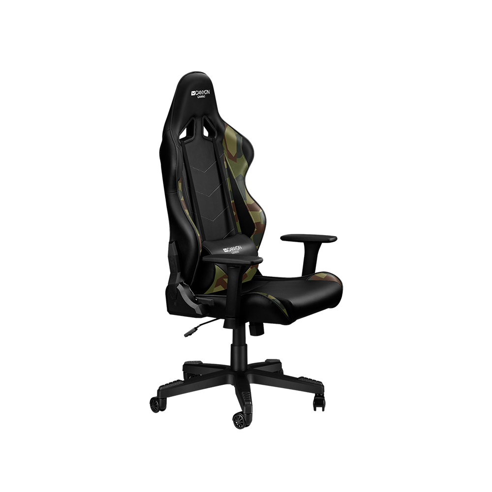 Canyon Gaming Chair Black and Camouflage Pattern